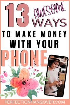 Easily start making money with our list of the best apps that pay you money in Make money fast with your cell phone so you can pay off debt and save money. Make Money Fast, Ways To Save Money, Make Money From Home, Make Money Online, Best Money Saving Tips, Money Tips, Saving Money, Apps That Pay You, Hustle Money