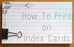 I have always wanted to know how to make my index study cards more organized...printed index cards