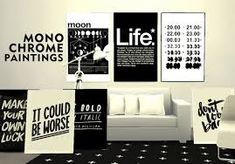Image result for pure sims monochrome paintings