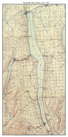 17 best New York Finger Lakes Old Maps NY images on Pinterest   Map ...