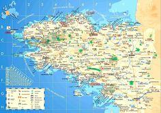 Bretagne-carte-Brest-Lorient-Nantes- Quimper- Rennes-Saint-Brieuc- Saint-Malo- Saint-Nazaire-Vannes-Bretagne-France-Europe