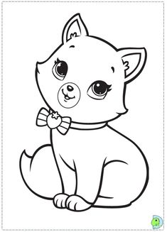 sieht süß aus, auf rosa gepunkteten Papier Coloring page