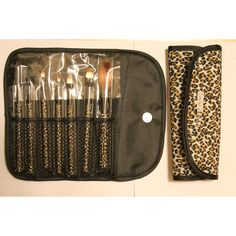 Beauty Treats 7 Piece Makeup Brush Set in a Leopard Print Brush Pouch. #beauty, #tool, #makeup, #brushes