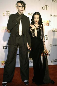 Marilyn Manson Wedding Pictures | To help was the taste out of your mouth here are some pics of Dita ...