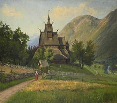 Stave Church by Hans Andreas Dahl