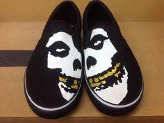 Draven shoes MISFITS band logo limited edition slip on #Draven #Skateboarding
