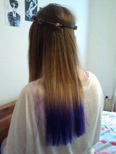 really awesome dip dyed hair!