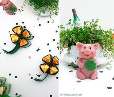 Kleines Silvester-Mitbringsel: Ferrero-Küsschen Kleeblatt  // DIY Ferrero-Küsschen Shamrock