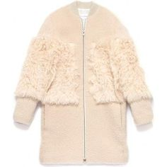 Loeffler Randall Blocked Shearling Coat as seen on Kate Hudson