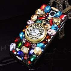 Luxury 3D Watch Bling Diamond Case For LG G4 G2, G3 Mini ,G2 Mini Clock Color Crystal Case For LG G3 Colorful Fashion New 2016