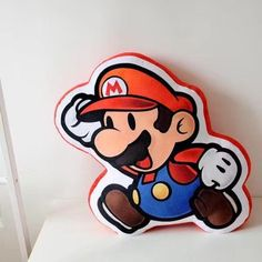 super mario brothers mario plush 3D pillow cushion pillows fit sofa office new #SuperMario