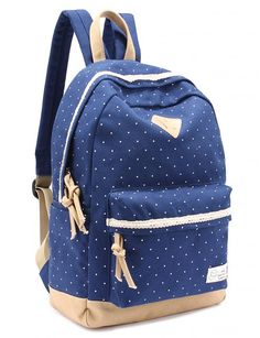 Amazon.com: Leaper Casual Style Lightweight Canvas Laptop Backpack Cute Travel…
