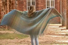 """Wool throw """"Through the water"""" - Terra Mama Hand Weaving, Pure Products, Wool, Water, Gripe Water, Hand Knitting, Weaving"""