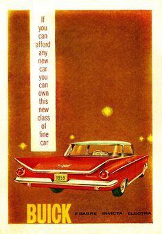 1959 Buicks:  Le Sabre, Invicta, Electra