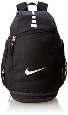 The Nike Hoops Elite Max Air Team Backpack stores gear without adding extra bulk. Cushioned shoulder straps and water-resistant fabric deliver comfort and durable protection for your equipment. Backpack Store, Backpack Bags, Nike Elite Backpack, Mochila Nike, Mens Gym Bag, Cool Backpacks, Nike Backpacks, Backpack Reviews, Black Backpack