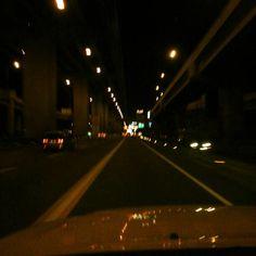 夜勤なカミさんを送りに。。。頑張りましょ!#ドライブ#高速道路#フィリピン#midnight#drive#roadtrip#highway#philippines
