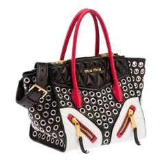 Miu Miu e-store · Handbags · Totes · Tote RN1032 2A9H F0967 Miu Miu Shoes 62d5bbf80f011
