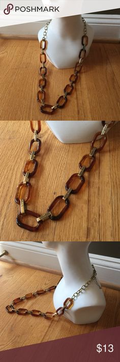 "GORGEOUS VTG FAUX tortoiseshell necklace 34"" Great necklace Jewelry Necklaces"