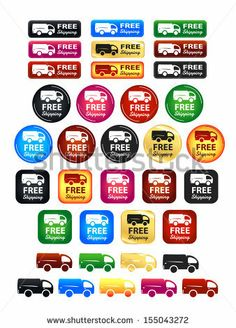 Free Shipping Badges Set