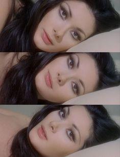 """- Edwige Fenech in """"Alle Farben der . - Make up - Fotoshooting Makeup Goals, Makeup Inspo, Makeup Inspiration, Makeup Tips, Hair Makeup, Vintage Makeup Looks, Retro Makeup, Cute Makeup, 70s Makeup Look"""