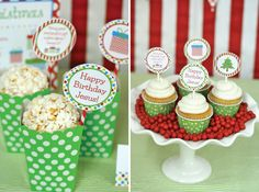 Awesome Free Printables for Christmas - cupcake toppers, gift tags, banners, etc. So cute!!