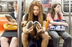 underground new york public library: great blog about the reading-riders of the nyc subways