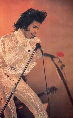 Classic Prince | 1984/85 Purple Rain Tour with Rose - rare concert photo!