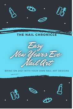 Easy nail stamping design to send off NYE in style (even if your just sitting at home in your PJ's)! Click the link for all the tutorial New Years Nail Designs, New Years Nail Art, Simple Nail Art Designs, Easy Nail Art, Nail Stamping Designs, New Year's Nails, Stamping Plates, Simple Nails, Nye