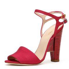 Women's high heel shoes in red