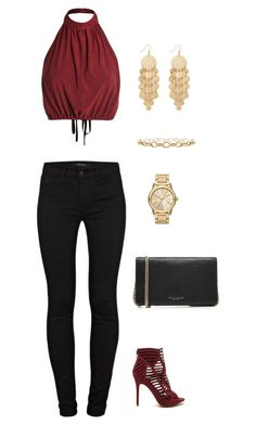 """""""Untitled #922"""" by netteskytte on Polyvore featuring J Brand, Marc Jacobs and MICHAEL Michael Kors"""
