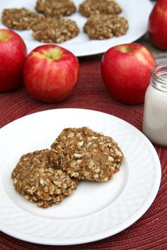 The apple in the cookie is sweet enough to the need for tons of sugar!