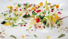 """""""Gargouillou""""- vegetables, leaves, fruits and flowers by Michel Bras - Chef Bras Restaurant - Laguiole (France) un jour je mangerais à sa table sûr !!!"""