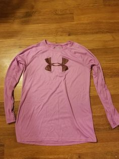 e29655768d7 Girls Under Armour Pink Long Sleeve Heat Gear Shirt - Size YLG  fashion   clothing