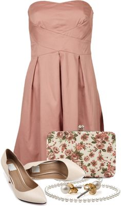 """""""Blush & Beige"""" by qtpiekelso ❤ liked on Polyvore"""