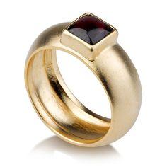 Elegant Ruby Ring k gold matte Egyptian WeddingRuby