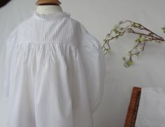 Vintage handmade Christening or Baptism Dress, Cotton. To fit 6 months plus.