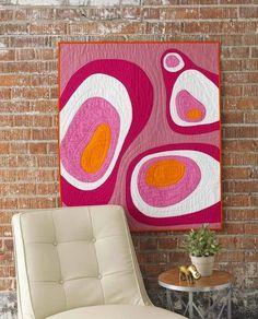 Eccentric Concentrics Quilt - The Quilters Applique Workshop. Stunning applique art quilt by Kevin Kosbab.