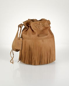 Large Fringed Hobo Bag - Polo Ralph Lauren Polo Ralph Lauren - RalphLauren.com.  Fall BagsHobos   Shoulder ... 893280a83c095