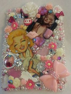 Homemade MARILYN MONROE Swarovski Case Cover Handmade Rhinestone Fits Ipad Mini