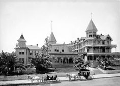View of the Bellevue Terrace Hotel at Figueroa & 6th, circa 1890. Today it is the site of the Jonathan Club.