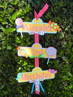 Sweet Shoppe or Candyland Party Sign by YourPartyShoppe on Etsy