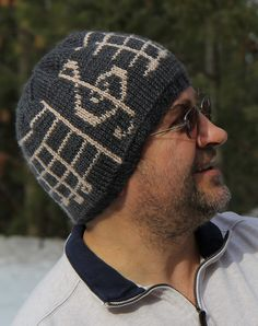 Free Knitting Pattern for Ode to Joy Hat - Colorwork beanie with the famous musical notes from Beethoven's 9th symphony. Designed by by Jennie Claver Pictured project by LanaSvetik who did the hat in doubleknit