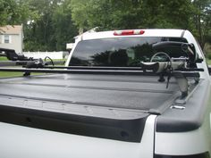 New Way To Carry Bikes/skis/etc Above The Bed Truck Mods, Gm Trucks, Cool Trucks, Pickup Trucks, Toyota Tundra Accessories, 2013 Silverado, Ski Rack, Truck Storage, Truck Accessories