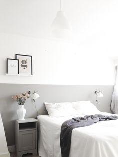 Bedroom design ikea bathroom 53 Ideas for 2019 Ikea Bedroom, Bedroom Inspo, Home Bedroom, Half Painted Walls, Bedroom Wall Colors, Guest Room Office, Room Paint, Room Decor, Furniture
