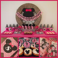 "Photo 8 of 57: Minnie Mouse BowTique / Birthday ""Scarlett's Minnie Mouse BOWtique Birthday Tea Party"" 