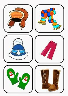 Zimní oblečení Five Senses Preschool, Body Preschool, Weather For Kids, Winter Kids, Winter Activities For Kids, Math For Kids, Preschool Worksheets, Preschool Activities, Kids English