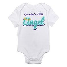 Grandma's Little Angel Infant Bodysuit > Grandma's Little Angel Baby and Toddler Tees > Familius.com Family T-shirts and Gifts