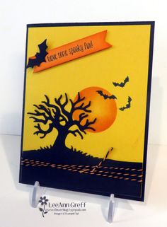 Spooky Fun Scene; for the August Control Freaks blog hop from Flowerbug's Inkspot