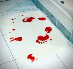 Horrific Bloody Bath Mat for Household Bathroom