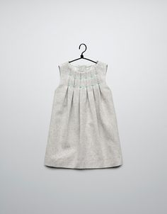 pleated dress coloured thread details - Dresses - Baby girl (3-36 months) - Kids - ZARA Canada